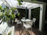 garden cottage covered patio area