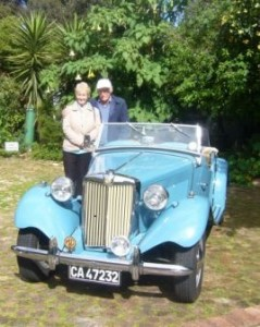 vintage car at Eastbury Cottage