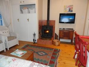 Fireplace at Eastbury Cottage in Hermanus