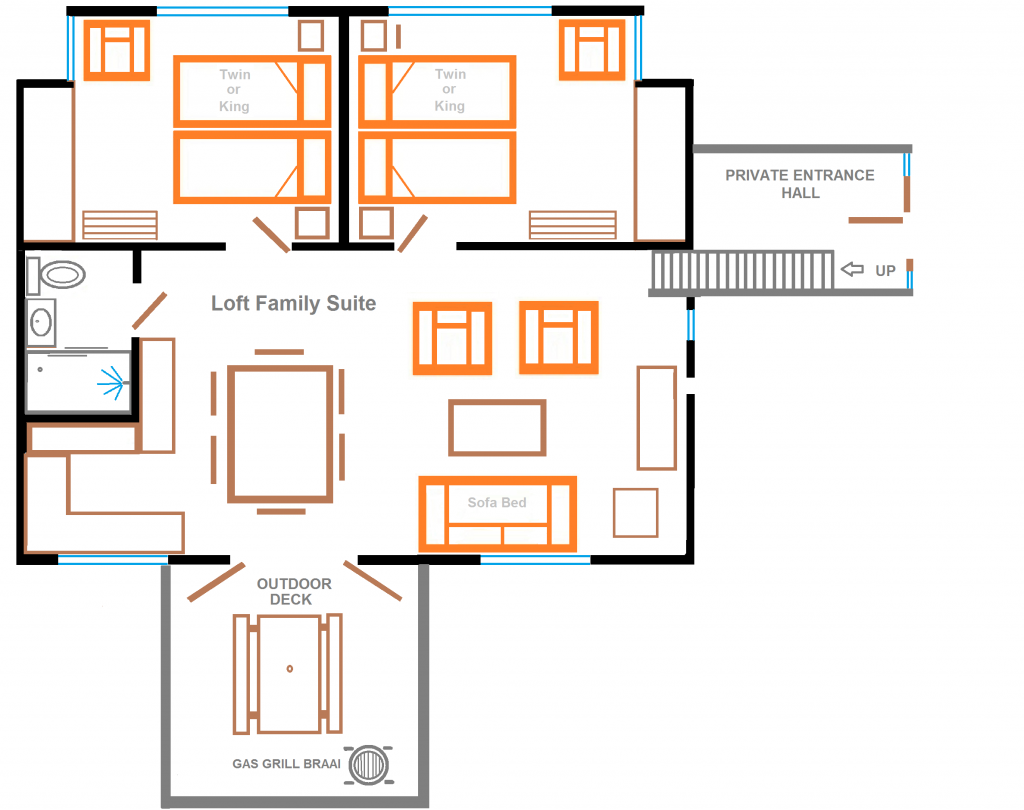 floor plan loft Eastbury Cottage