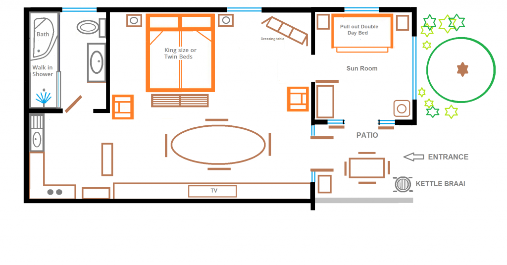 Floor Plan Rose Room at Eastbury Cottage