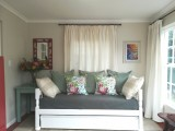 Sunroom at Eastbury Cottage with daybed