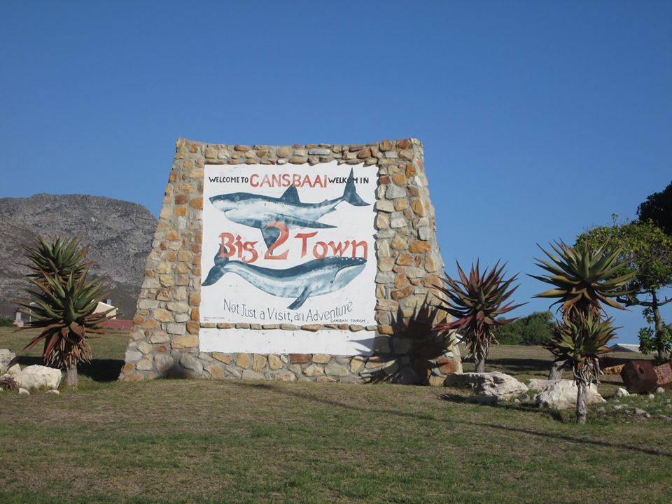 Gansbaai welcome sign